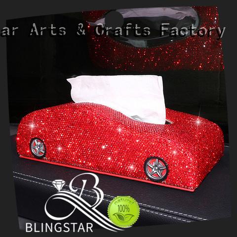 Blingstar high quality rhinestone license plate frames crystals bulk production for car