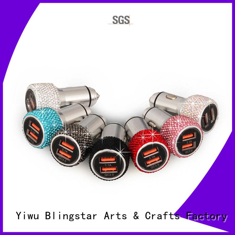 Blingstar handmake crystal steering wheel cover overseas market for car