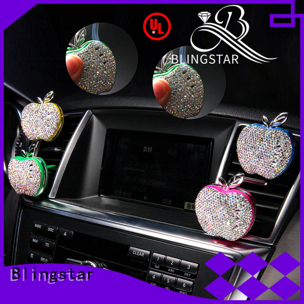 Blingstar smile rhinestone license plate frames crystals factory for auto
