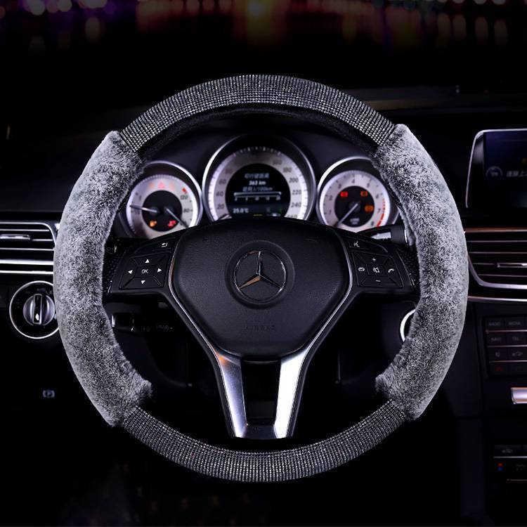factory Outlet HighQualityRhinestoneStoneWheelCoverPlushSteering