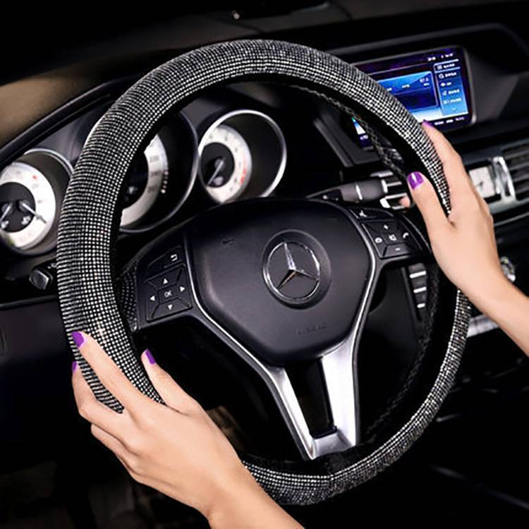 High quality factory Outlet Full Diamond steering wheel cover