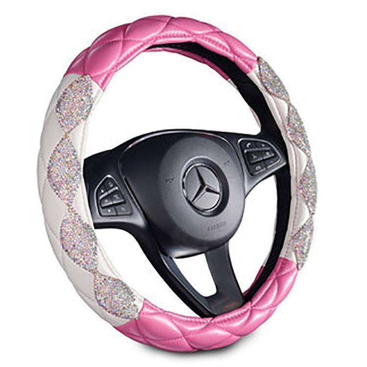 New sale Gem Stone Car Steering Wheel Cover Plush Steering