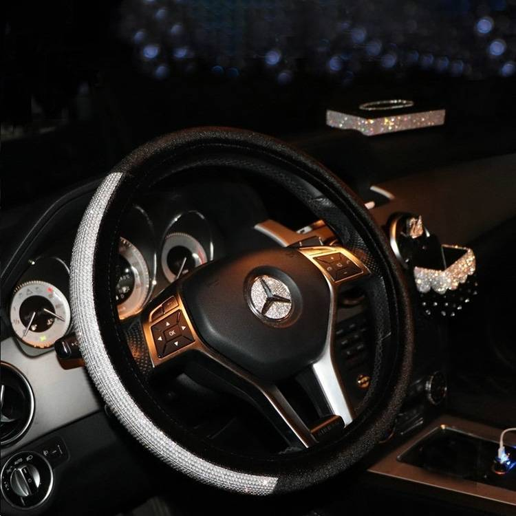 Shiny Sparkling car steering wheel set