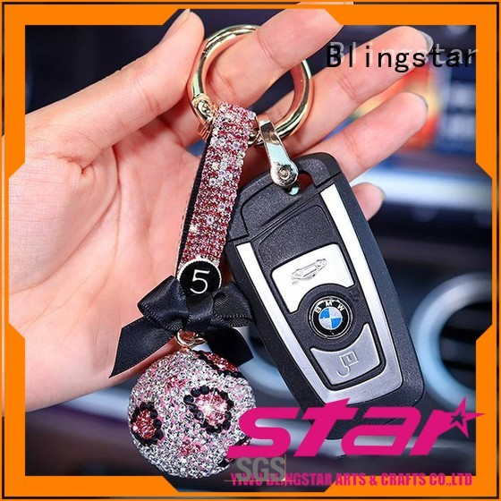 Top bling bear keychain pu marketing for key