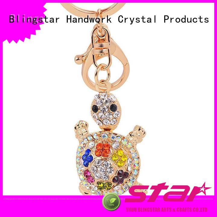 Blingstar handmake bling initial keychain manufacturer for key