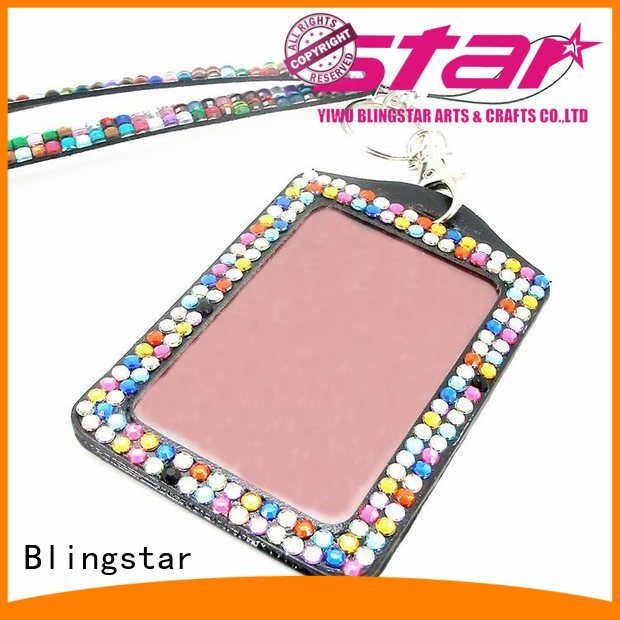 Blingstar colorful cute retractable badge holder manufacturer for id card