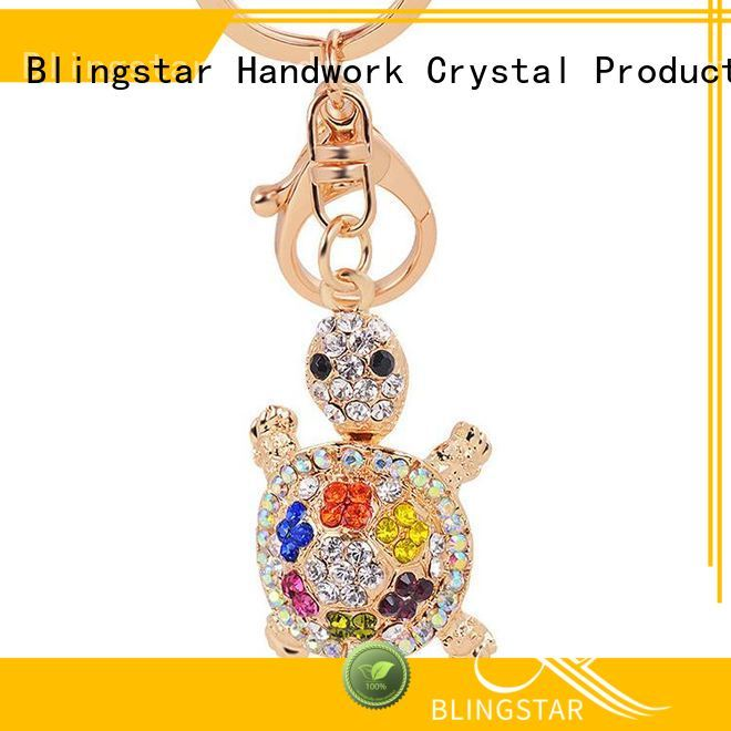 handmake bling duck keychain bracelets for key