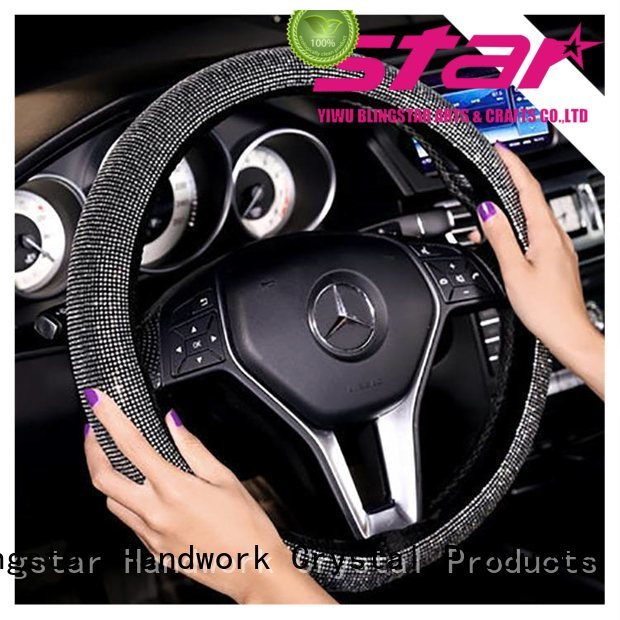 colorful bling Automotive accessories rectangle manufacturer for car