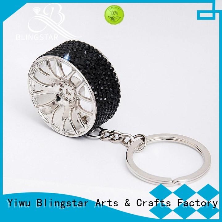Blingstar fur bling duck keychain for key