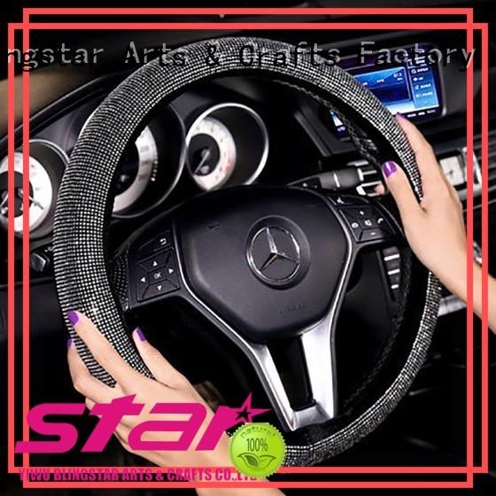 Blingstar shine blinged out steering wheel cover bulk production for car